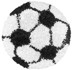 RugStudio presents The Rug Market America Kids Shaggy Raggy Soccer Ball 02253 Black/white Area Rug Sports Rug, Kids Sports, Kids Area Rugs, Round Area Rugs, White Area Rug, White Rugs, My New Room, Shaggy, Handmade Rugs