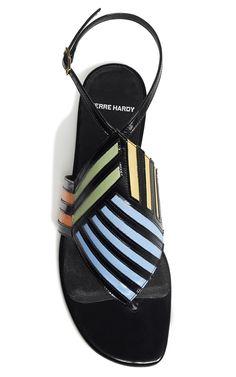Multi And Black Buren Sandal by Pierre Hardy for Preorder on Moda Operandi