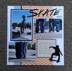 sports layout skateboarding