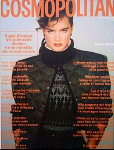 Brooke Shields covers Cosmopolitan (Italy), May 1981.