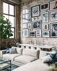Photo Wall via @mydomaine