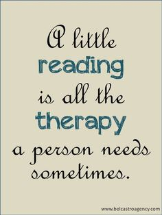 book therapy!