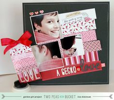 Seeing Double lesson by @Lisa Dickinson on how to use 6x6 paper pads to create both a layout and tag. #scrapbooking #tutorial