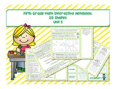 Interactive Notebooks provide students with a way to organize their thoughts as they learn. They also act as educational portfolios for teachers to monitor and track student performance. Interactive Notebooks are a great resource for student learning and they provide neat spaces for students to keep their learning over the course of a year in one place.These Common Core aligned pages were created to help you and your fifth graders prepare their Math Interactive Notebooks.