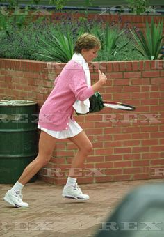 Princess Diana leaving Harbour Fitness Club after tennis coaching, Chelsea, London, Britain - Aug 1993  Princess Diana  Aug 1993