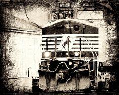 Virginia Railroad! 8 x 10 Print Photograph Rail Road Train Conductor Locomotive Horse Black White Steam Punk by Concepts2Canvas on Etsy