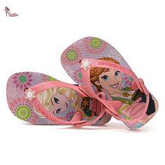 Havaianas - Tong bébé illustrée Frozen - Rose - 25 / 26 - Chaussures havaianas (*Partner-Link)