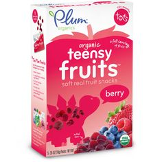 Plum Organics Teensy Fruits Berry #toddlersnacks #organic