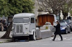 Parklet made out of a van in San Francisco