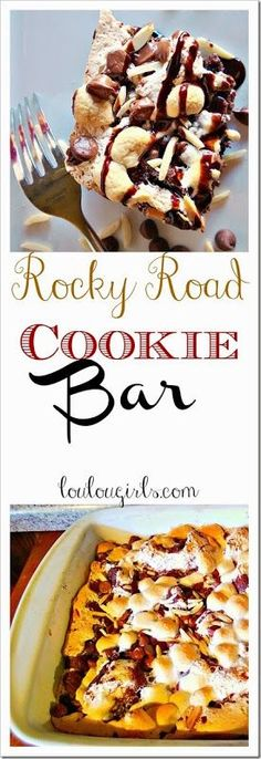 You Need This Today! Rocky Road Cookie Bars! Melt in your mouth. #bars #cookies #rocky road #recipe #chocolate #yum