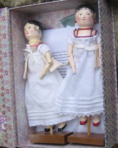Hitty dolls - Regency period. Picture posted yo Hitty doll page - these are so sweet looking.  Love their little faces.