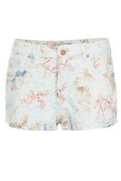 MOTO Floral Jacquard Hotpants