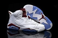 8a4599664e1 Nike Air Jordan 6 Maroon Off White New Maroon