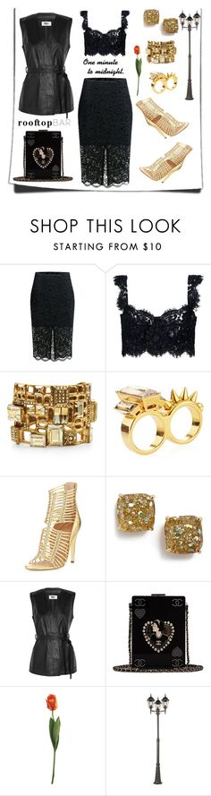 """""""The Night is Still Young."""" by thedistinctiveme ❤ liked on Polyvore featuring Dolce&Gabbana, Oscar de la Renta, Alexander McQueen, Sigerson Morrison, Kate Spade, MM6 Maison Margiela, Chanel, Maxim, summerdate and rooftopbar"""