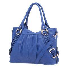 (D2666) Emma Braided Trim Shoulder Bag