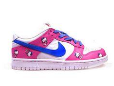promo code 6c3e1 eb0bc Low Nike Girls Shoes Hello Kitty SB Dunk Pink Blue White Shoes Nike Adidas,  Nike
