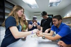Students learn from onsite biologists at Veragua