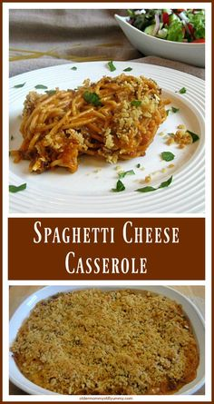 Spaghetti Cheese Casserole - I cannot remember when we first started making this outstanding, family favourite Spaghetti Cheese Casserole. Hearty, filling, and delicious; I am pretty sure this casserole will very quickly become a family favourite in your home too. ~ Older Mommy Still Yummy