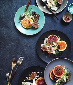 Literally cannot be easier: Roast oranges and figs, and toss with endive, black olives, and a blood orange vinaigrette—