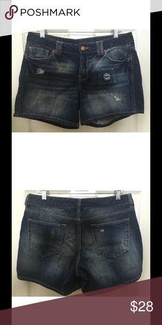 "Gap denim shorts Destroyed denim. 100% cotton. Waist- 34"", inseam- 5"", rise- 9"" GAP Shorts Jean Shorts"