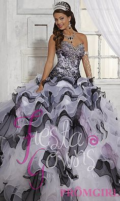 Full Length Sweetheart Quince Gown by House of Wu at PromGirl.com
