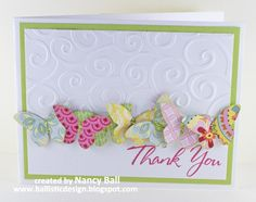 I have begun holding embossing and die cutting classes. This is one of the cards made at the first class. I was inspired from Pinterest.   ...
