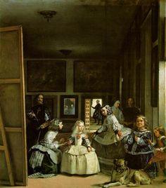 #91. Las Meninas. Diego Velázquez. c. 1656 CE. Oil on canvas.