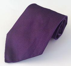 Christopher Hunter Neck Tie Purple 100% Silk #ChristopherHunter #NeckTie