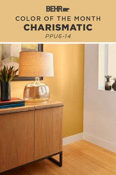 Fall in love with the festive fall shade Charismatic, our Color of the Month. It's a rich shade of golden yellow that brings to mind the image of autumn foliage. Add this cheery wall color to your next DIY home makeover project to brighten your walls in a snap! Click below for full color details to learn more.