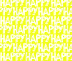 Happy Yellow Sunshine fabric by smuk on Spoonflower - custom fabric