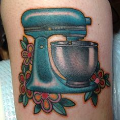 Or your mixer? | 27 Tattoos To Show Your Dedication To Food