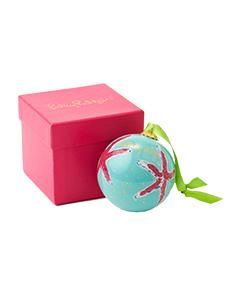 Lilly Pulitzer Glass Christmas Ornaments