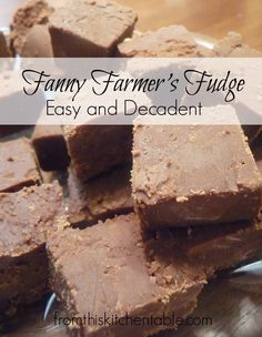 Great from scratch fudge recipe that is sure to hit the sweet spot. This fudge recipe is old style sugary fudge that melts in your mouth. You can see the full fudge recipe here. Best Fudge Recipe, Fudge Recipes, Candy Recipes, Holiday Recipes, Dessert Recipes, Baking Recipes, Yummy Recipes, Recipies, Dinner Recipes