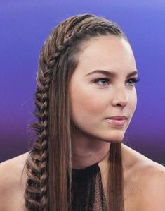 French fishtail braid | long hair | cute girls hairstyles, To see more photos of this style, please visit http://www. Description from shorthairstyle2013.net. I searched for this on bing.com/images