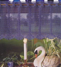 This is a pattern for a crocheted curtain Valance Panel. The finished size will be 10 x This pattern is calling for Crochet Cotton size 10 - 500 yards blue and size 7 crochet hook. This PDF pattern will include a photo and easy to read instructions. Crochet Motifs, Crochet Cross, Thread Crochet, Filet Crochet, Crochet Patterns, Pdf Patterns, Crochet Curtain Pattern, Crochet Curtains, Lace Curtains
