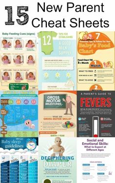 Parenting Cheat Sheets - Helpful Charts and Great Resources for New Parents! Baby feeding guides, baby food charts, baby sleep guidelines and more! #babycenterwebsite