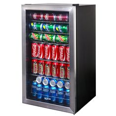 Energy Guide This beverage cooler fits in small spaces easily and can definitely store enough beverages for any occasion. Featuring several different setting, this cooler will definitely be the life o