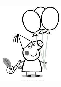 Свинка Пеппа рисование и раскраска