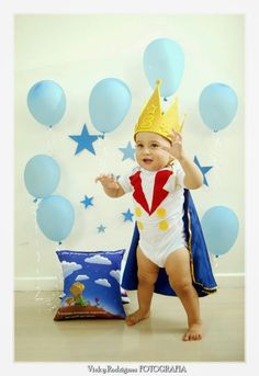 Adorable photo shoot for your Little Prince first birthday Prince Birthday Theme, Wild One Birthday Party, 1st Boy Birthday, First Birthday Parties, Birthday Party Decorations, First Birthdays, Little Prince Party, The Little Prince, Foto Baby
