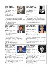 English worksheet: Oral expression: how to introduce a celebrity