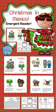 Christmas Around the World Mexico will be a great addition to your book boxes in December.  Included:  8 page booklet in color and black and white, Main Idea Printable; Writing Printable, and New Words Printable. Let the children put the book in their book boxes and practice reading for a week! Take it home and read it again and again to learn about Christmas Around the World! Kindergarten Activities, Classroom Activities, Preschool, Christmas In Mexico, Family Christmas, Holidays Around The World, Around The Worlds, Classroom Hacks, Emergent Readers