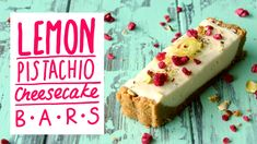 Vanilla cookie crumb base with a creamy lemon cheesecake centre and pistachios and freeze dried raspberries on top. Yum! Subscribe to The Scran Line: http://...
