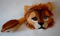 Shafer+the+Lion+Custom+Mask+and+Tail+set+for+by+HuntingFaeries,+$40.00