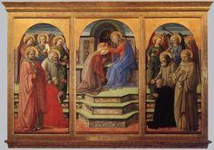 Fra Filippo Lippi. Coronación de la Virgen.