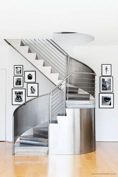 Steel spiral stairca