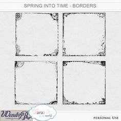 Steampunk rocks - check out these awesome borders with gears, you must have them, don't you think? Spring into Time Borders by WendyP Designs and Lara's Digi World