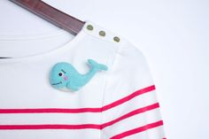 Light Blue Whale Brooch by OolyWooly on Etsy