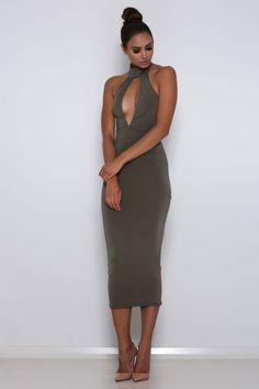 Unica Dress - Khaki
