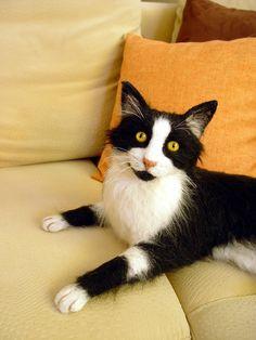 """Katze """"Sammy"""" nach Vorlage/ Kundenauftrag. Gerne nehme ich noch Kundenaufträge an. Einfach per E-Mail kontaktieren."""