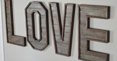 Pallet Wood Letters My husband and I wanted to build a meaningful piece of art to hang on our children s bedroom wall When we came across a pallet we knew w